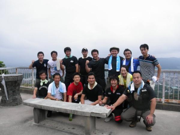 天拝山の山頂にて