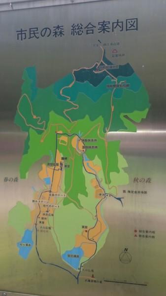 太宰府市民の森の地図