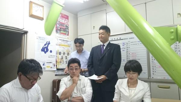 9月例会のキャラバン。福山先輩によるJCの歴史が行われます。